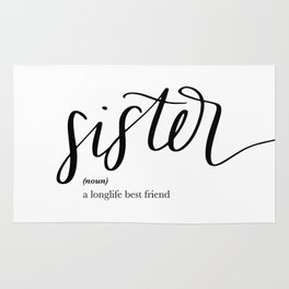Sister Quote Definition Rug