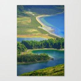 Colorful lake Canvas Print