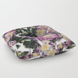 Shattered Floral Floor Pillow