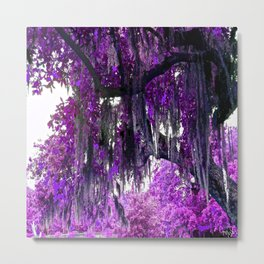 Trees Purple Moss Metal Print