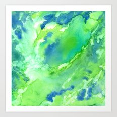 A Touch of Blue Art Print