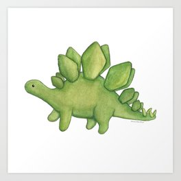 Stanley Stegosaurus Art Print