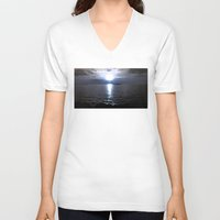 glee V-neck T-shirts featuring Immortal by Julie Maxwell
