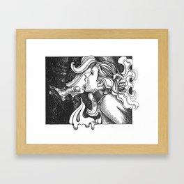 bdsm/blowjob/erotica/pornart/bdsmcommunity/nude/art/eroticart/oralsex/cock/dom/sub/sex Framed Art Print