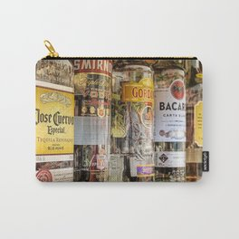 Gin, Rum, Tequila, & Vodka Bottles Aperitif color photography / photographs for kitchen, bar, dinning room wall decor Carry-All Pouch