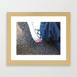 Product placement Framed Art Print
