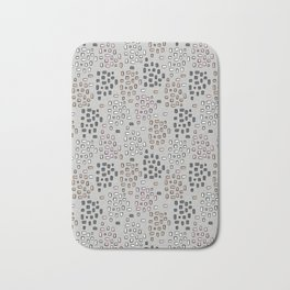 Rectangle Square Doodle Vector Pattern Seamless Bath Mat