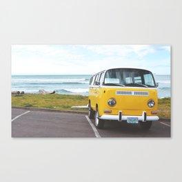 Combi yellow beach Canvas Print
