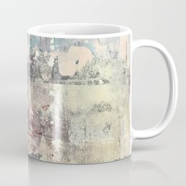 Mirage [1]: a vibrant abstract piece in pinks blues and gold by Alyssa Hamilton Art Coffee Mug