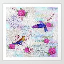 Chinoiserie pink Art Print