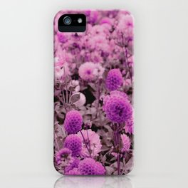 Botanical pink lavender girly floral pattern iPhone Case