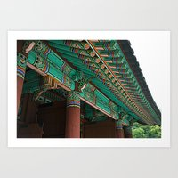 korean Art Prints featuring Korean Roof by HaNuel Jeon