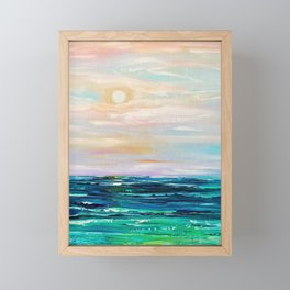 Late afternoon by the Ocean Framed Mini Art Print