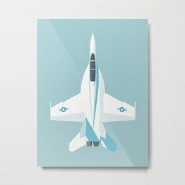 F-18 Super Hornet Jet Aircraft - Sky Metal Print