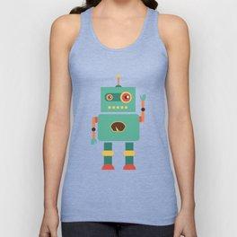 Fun Robot Toy Graphic Unisex Tank Top