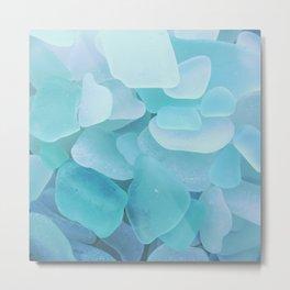 Sea Glass Ocean Blue Metal Print
