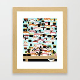 I REALLY LOVE SUSHI Framed Art Print