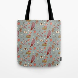 Eerie Walk Through the Woods V2 Tote Bag