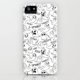 Ghosties in White iPhone Case