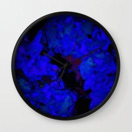 A dark blue crash Wall Clock