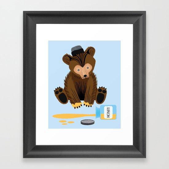 The Honey Bear Framed Art Print