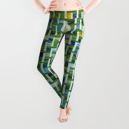 Unmixed Greens with Basket Weave Leggings