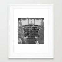 da vinci Framed Art Prints featuring Flight Da Vinci by KimberosePhotography