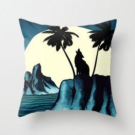 Wolf Bay Throw Pillow