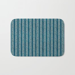 Mud cloth Teal Arrowheads Bath Mat