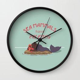 Sea Mammals have Curves Too Wall Clock