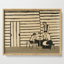 Family Supper by Horace Pippin, 1946 Serving Tray