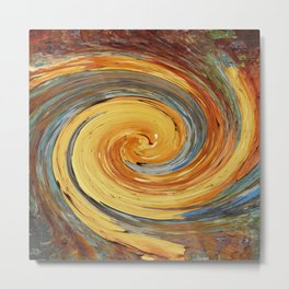 Swirl 03 - Colors of Rust / RostArt Metal Print