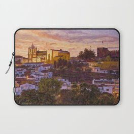 Silves castle and cathedral at dusk Laptop Sleeve