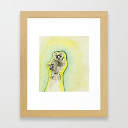 Fist Sized Feisty - the mighty boreal owl Framed Art Print