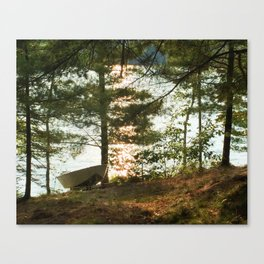 450 - Boat at the Cottage Canvas Print