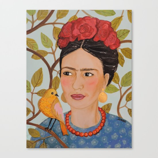 viva Frida Canvas Print