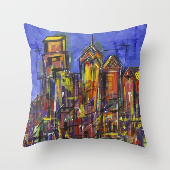 Philly Skyline Throw Pillow