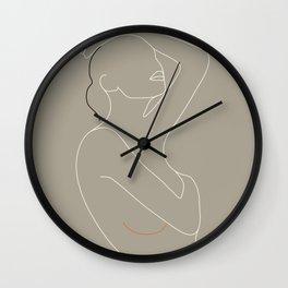 Minimal Line Art Woman Figure Wall Clock