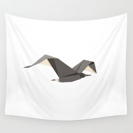Origami Seagull Wall Tapestry
