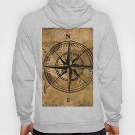 Destinations - Compass Rose and World Map Hoody