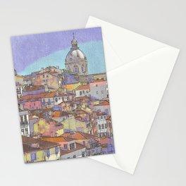 Santa Ingrácia church and Alfama rooftops, Lisbon Stationery Cards
