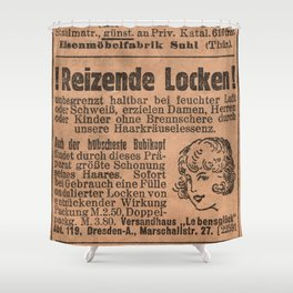 Funny German Vintage Advertising Reizende Locken Shower Curtain