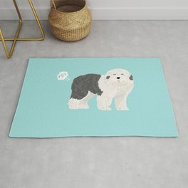 old english sheepdog farting dog cute funny dog gifts pure breed dogs Rug