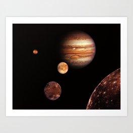 Jupiter Family Portrait Art Print