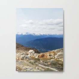 Many layers of a mountain view Metal Print