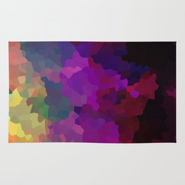 Multicolored abstract pattern . A firework of colors . Rug