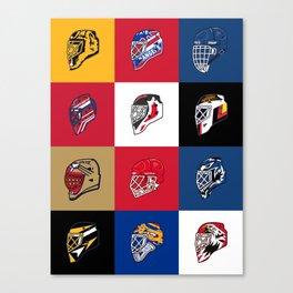 90's Goalie Masks Canvas Print