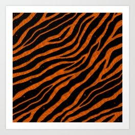 Ripped SpaceTime Stripes - Orange Art Print