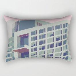 Building with pastel coloured sky Rectangular Pillow