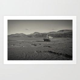A lone fishing boat Art Print